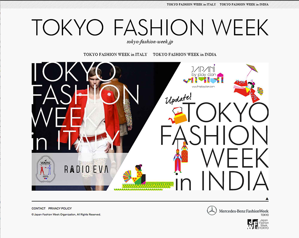 Tokyo Fashion WeekTokyo Fashion Week 2013のロゴとアイデンティティ。